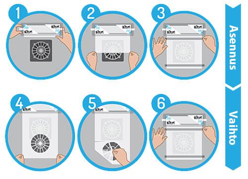 Velum Air -suodattimessa on paksumpi kangas mutta alhaisempi huokoisuus, ja se takaa hyvän ilmavirtauksen ja ehkäisee ylikuumenemista. Se on ihanteellinen suodatin kompressoreihin, jäähdytysjärjestelmiin ja lämmönvaihtimiin.
