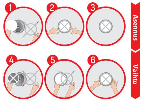 PATENTOIDUN uudelleenkäytettävän polypropeenipidikkeen ansiosta suodatin on helppo kiinnittää magneetin ja normaalin O-renkaan avulla (sisältyvät pakkaukseen).